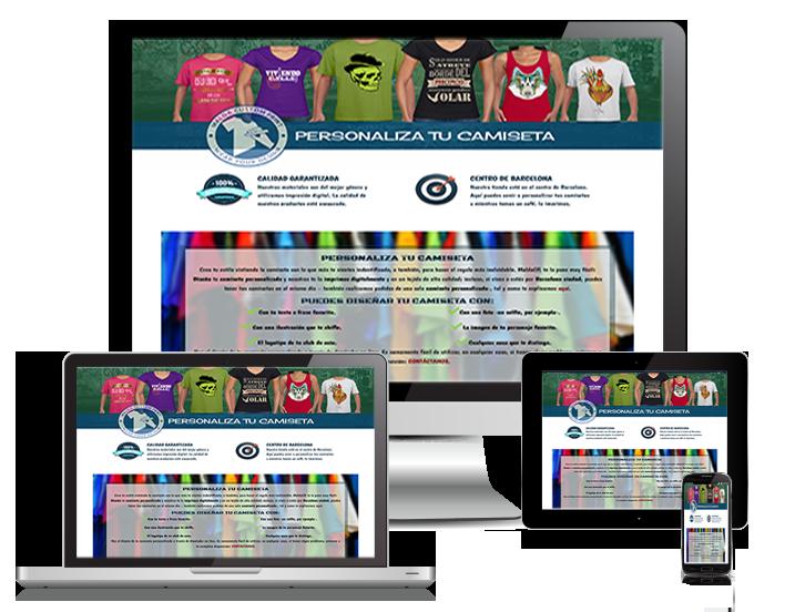 dispositivos con muestra de pagina web